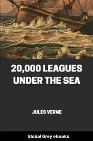cover page for the Global Grey edition of 20,000 Leagues Under The Sea by Jules Verne