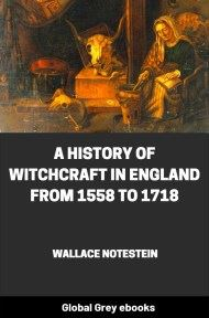 A History of Witchcraft in England...