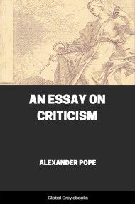 cover page for the Global Grey edition of An Essay on Criticism by Alexander Pope