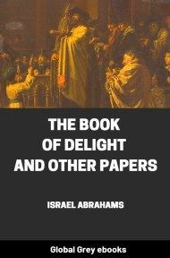 cover page for the Global Grey edition of The Book of Delight and Other Papers by Israel Abrahams