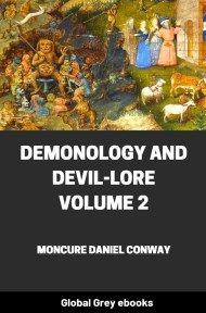 cover page for the Global Grey edition of Demonology And Devil-Lore, Volume 2 by Moncure Daniel Conway