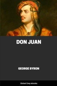 cover page for the Global Grey edition of Don Juan by George Byron