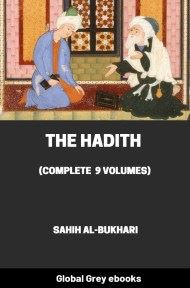 cover page for the Global Grey edition of The Hadith (Complete 9 Volumes) by Muhammad al-Bukhari