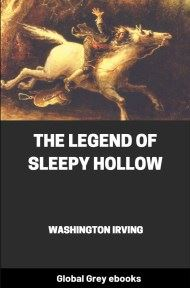 cover page for the Global Grey edition of The Legend of Sleepy Hollow by Washington Irving