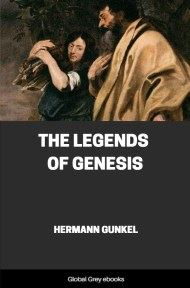 cover page for the Global Grey edition of The Legends of Genesis by Hermann Gunkel