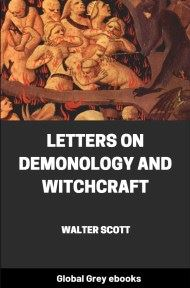cover page for the Global Grey edition of Letters on Demonology and Witchcraft by Walter Scott