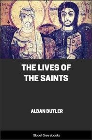 cover page for the Global Grey edition of The Lives of the Saints by Alban Butler