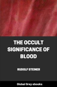 cover page for the Global Grey edition of The Occult Significance of Blood by Rudolf Steiner