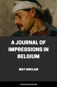 cover page for the Global Grey edition of A Journal of Impressions in Belgium by May Sinclair