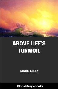 cover page for the Global Grey edition of Above Life's Turmoil by James Allen