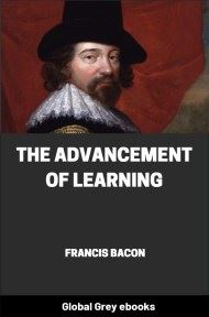 cover page for the Global Grey edition of The Advancement of Learning by Francis Bacon