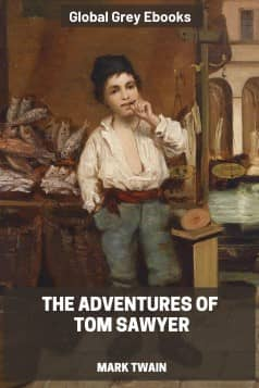 cover page for the Global Grey edition of The Adventures of Tom Sawyer by Mark Twain