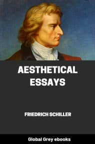 cover page for the Global Grey edition of Aesthetical Essays by Friedrich Schiller