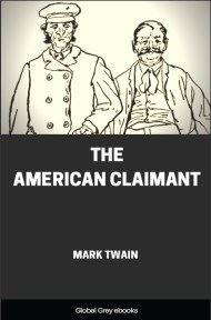 cover page for the Global Grey edition of The American Claimant by Mark Twain