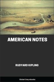 cover page for the Global Grey edition of American Notes by Rudyard Kipling