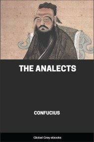 cover page for the Global Grey edition of The Analects by Confucius