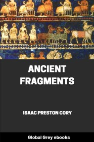 cover page for the Global Grey edition of Ancient Fragments by Isaac Preston Cory