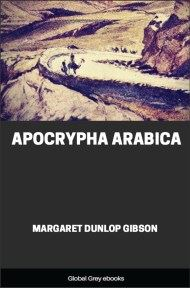 cover page for the Global Grey edition of Apocrypha Arabica by Margaret Dunlop Gibson