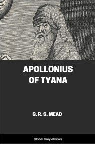 cover page for the Global Grey edition of Apollonius Of Tyana by G. R. S. Mead
