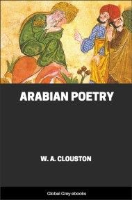 cover page for the Global Grey edition of Arabian Poetry by W. A. Clouston
