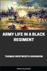 cover page for the Global Grey edition of Army Life in a Black Regiment by Thomas Wentworth Higginson