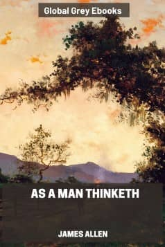 cover page for the Global Grey edition of As a Man Thinketh by James Allen