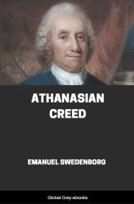 cover page for the Global Grey edition of Athanasian Creed by Emanuel Swedenborg