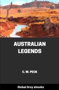 cover page for the Global Grey edition of Australian Legends by C. W. Peck