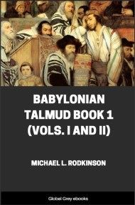 Babylonian Talmud Book 1 (Vols. I and II)
