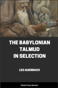 cover page for the Global Grey edition of The Babylonian Talmud in Selection by Leo Auerbach