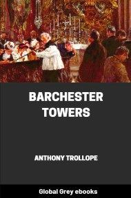 cover page for the Global Grey edition of Barchester Towers by Anthony Trollope