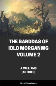The Barddas of Iolo Morganwg, Volume 2 By J. Williams (Ab Ithel)