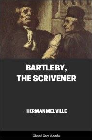 cover page for the Global Grey edition of Bartleby, The Scrivener by Herman Melville