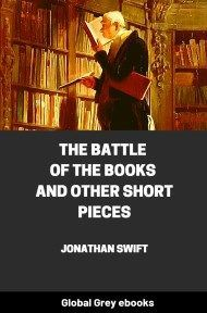 cover page for the Global Grey edition of The Battle of the Books and other Short Pieces by Jonathan Swift
