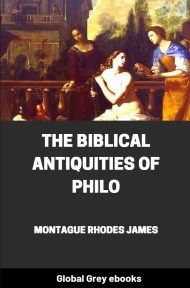 cover page for the Global Grey edition of The Biblical Antiquities of Philo by Montague Rhodes James