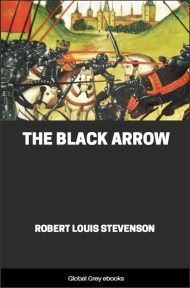 cover page for the Global Grey edition of The Black Arrow by Robert Louis Stevenson