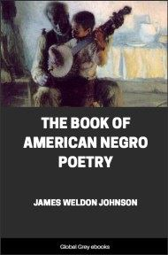 cover page for the Global Grey edition of The Book of American Negro Poetry by James Weldon Johnson