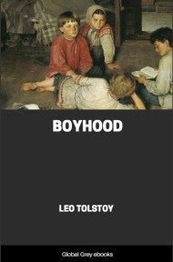 cover page for the Global Grey edition of Boyhood by Leo Tolstoy