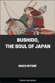 cover page for the Global Grey edition of Bushido, The Soul of Japan by Inazo Nitobe