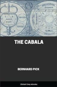 cover page for the Global Grey edition of The Cabala by Bernhard Pick