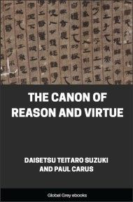 cover page for the Global Grey edition of The Canon of Reason and Virtue by Daisetsu Teitaro Suzuki and Paul Carus