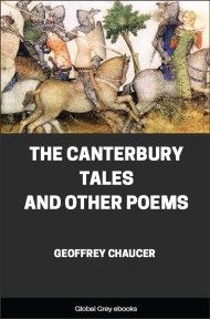 cover page for the Global Grey edition of The Canterbury Tales and Other Poems by Geoffrey Chaucer