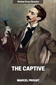 cover page for the Global Grey edition of The Captive by Marcel Proust