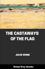 cover page for the Global Grey edition of The Castaways of the Flag by Jules Verne