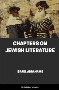 cover page for the Global Grey edition of Chapters on Jewish Literature by Israel Abrahams