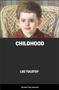 cover page for the Global Grey edition of Childhood by Leo Tolstoy