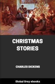 cover page for the Global Grey edition of Christmas Stories by Charles Dickens