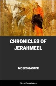 cover page for the Global Grey edition of Chronicles of Jerahmeel by Moses Gaster