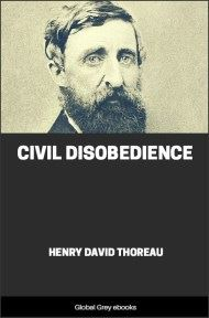 cover page for the Global Grey edition of Civil Disobedience by Henry David Thoreau