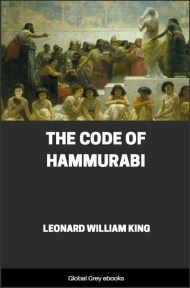 cover page for the Global Grey edition of The Code of Hammurabi by Leonard William King